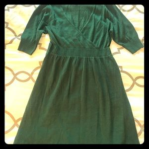 Green Frenchi sweater dress
